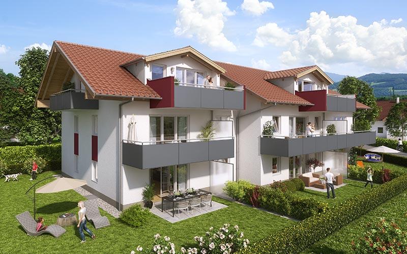 db wohnbau gmbh moderne innovative immobilien in freilassing wohnungsbau. Black Bedroom Furniture Sets. Home Design Ideas